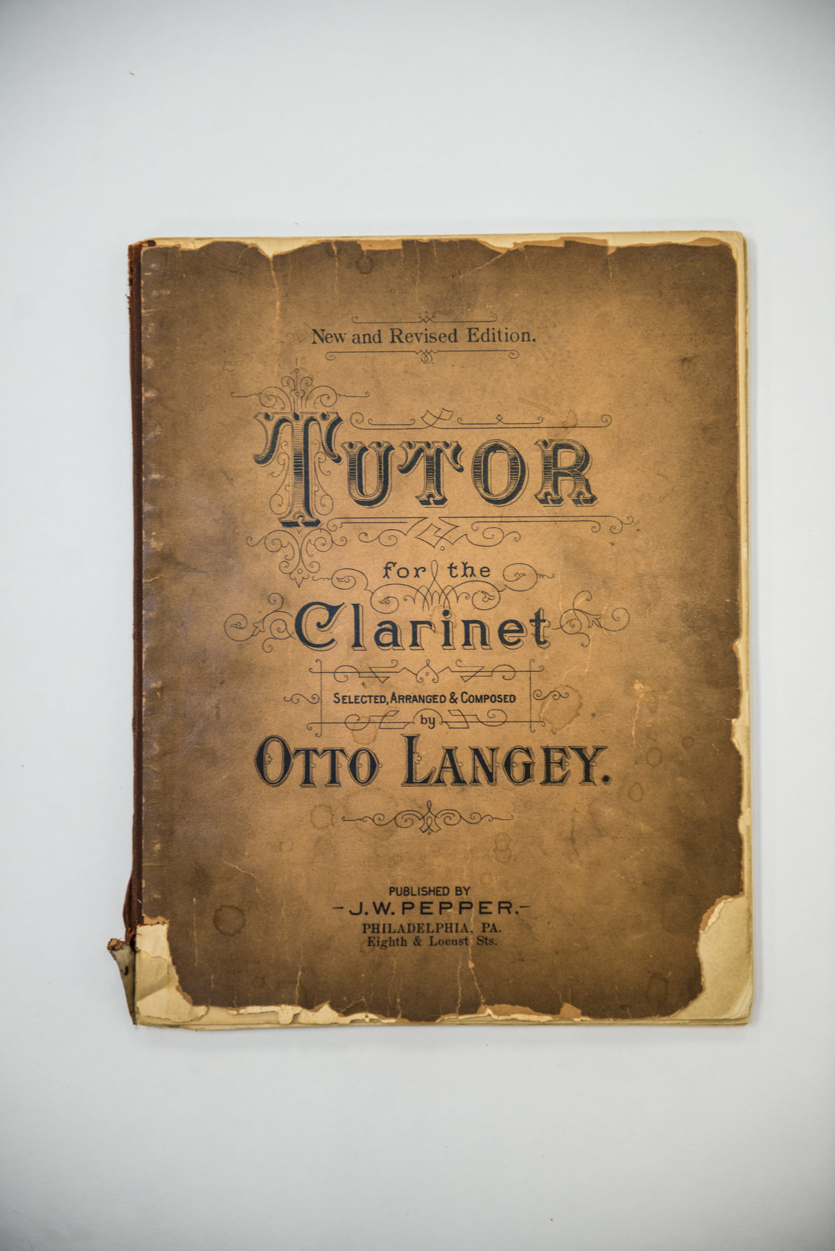 unknown - Tutor for the Clarinet, by Otto Langely (cover)
