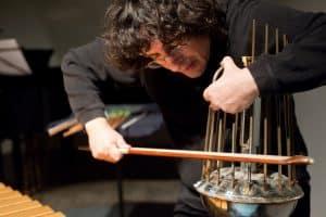 Percussionist Joel Bluestone