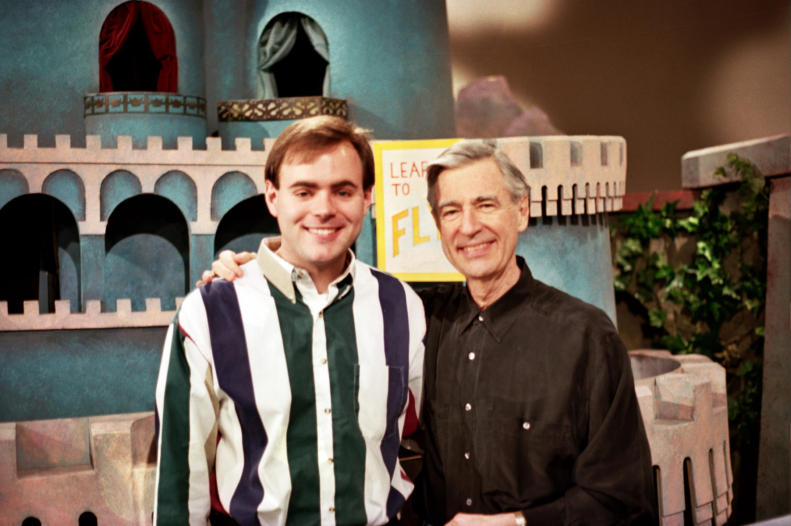 Fred Rogers and Art Williams on the set of
