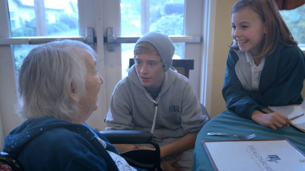Students share music with Alzheimer's patients.