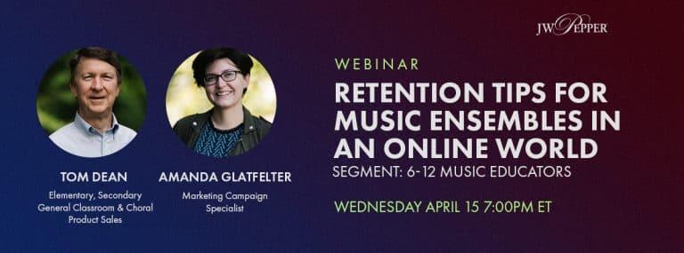 Retention Tips for Music Ensembles in an Online World